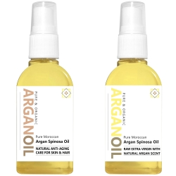 Argan Oil Unscented + Natural Scented - 2x 65 ml / 2.2 fl oz