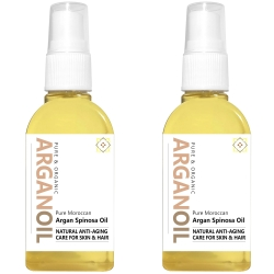 Pure Organic Argan Oil - 2x65ml / 2x2.2 fl oz - Save 20%