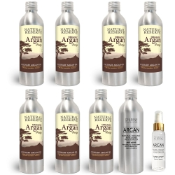 Argan Oil 60 Day Supplement Pack - 7x200ml Culinary + 200ml Cosmetic Argan Oil