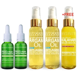Christmas 5x Gifts - 2xCactus Seed Oil - 2xPure Argan Oil + FREE Kalahari Melon Seed Oil - Save 30%