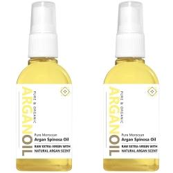 Raw Natural Scented Argan Oil 2x 60m l /2.1fl oz