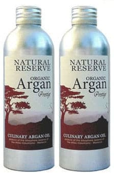 Organic gourmet culinary argan oil for eating and cooking