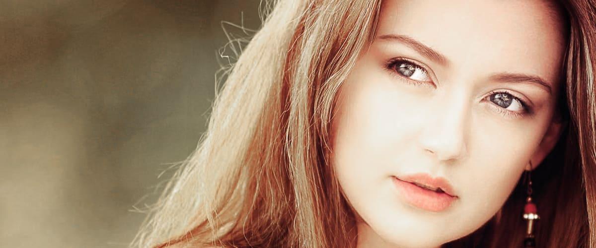 Girl  argan oil makes skin healthier