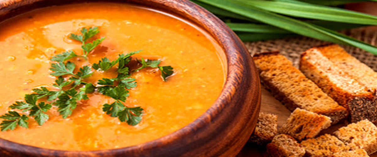 Moroccan Red Lentil Soup with Argan Oil recipe