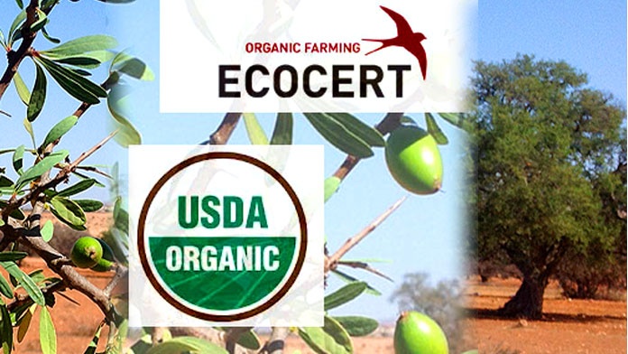 Organic Argan Oil Certification by Ecocert and USDA